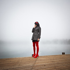 neck of the dock (_doposbronza_) Tags: morning slash red fog dock milano carousel littleredridinghood molo ei 2011 parcodellecave ermannoivone