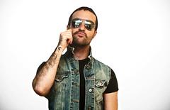 Movember (dave issod) Tags: portrait me self movember denim vest mustache aviator totallyrad d90