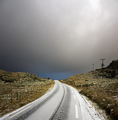 Sudden change in weather (Arnfinn Lie, Norway) Tags: road light sky snow nature weather norway horizon jren rogaland carlzeiss1680mm alpha77 arnfinnlie flickrstruereflection1 flickrstruereflection2 flickrstruereflection3 flickrstruereflection4 flickrstruereflection5