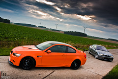 GTS vs CSL (Fabien.Dupont) Tags: england orange sun france canon de french photography la soleil juin photographie belgium belgique d tunnel super esplanade bmw mm 12 lille 18 m3 55 pas dupont channel csl calais manche nord gts eurotunnel sous fabien rassemblement 450d