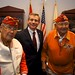 Navajo Code Talkers Alfred Peaches and Joe Vandever Sr., meet Rep. David Schweikert (AZ-05) following a special order hosted by Congressman Gosar honoring the Navajo Code Talkers. Dec. 7. 2011. Photo by Jared King / NNWO  This Navajo Nation Washington Office photograph is being made available only for publication by news organizations and/or for personal use printing by the subject(s) of the photograph. The photograph may not be manipulated in any way and may not be used in commercial or political materials, advertisements, emails, products, promotions that in any way suggests approval or endorsement of Navajo Nation President Ben Shelly or Vice President Rex Lee Jim.