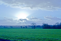 Lancashire Countryside - Nikon D3100. (Craig Greenwood) Tags: uk morning blue winter england sky cold green heritage history home nature beauty grass skyline liverpool landscape dawn countryside town nikon raw natural britain country scenic windy sunny historic lancashire stunning fields 1855mm nikkor lydiate d3100 nikond3100 me2youphotographylevel1