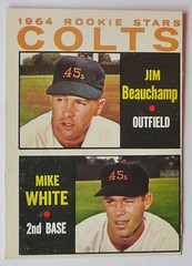 1964 ROOKIE STARS HOUSTON COLTS JIM BEAUCHAMP MIKE WHITE 1964 (ussiwojima) Tags: topps 1964 baseballcard mikewhite houstoncolts jimbeauchamp 1964rookiestars