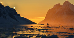 Sunset over Lemaire (Peking.Duck) Tags: sunset mountain antarctica peninsula channel antarctic lemaire