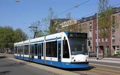 GVBA Amsterdam: 2024 2002 Siemens Combino car on Slotermeerlaan, Route 7 (Mega Anorak) Tags: amsterdam siemens tram streetcar articulated trolleycar route7 tramcar combino gvba slotermeerlaan