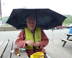 "Fully prepared with beer & a brolly • <a style=""font-size:0.8em;"" href=""http://www.flickr.com/photos/36398778@N08/6490981135/"" target=""_blank"">View on Flickr</a>"