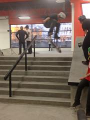 Flying the Stairs (Big Dadoo) Tags: yfc iphone skatebording