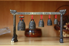 A set of miniature chinese bells (Engineer J) Tags: china trip pakistan history clock bells december time junaid m lahore rashid 2011 mangla uet engr gettyimagespakistanq2 gettydec11