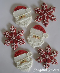 Santa Faces & Snowflakes (Songbird Sweets) Tags: santa christmas snowflakes sugarcookies songbirdsweets