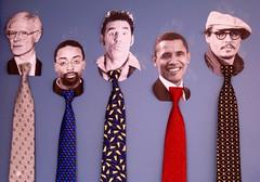 Andy, Spike,Cosmo, Barak and Johnny - NYC (verplanck) Tags: nyc andywarhol johnnydepp unionsquare kramer necktie spikelee barakobama
