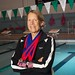 Bonnie Kestner with Virginia Senior Games medals