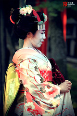 Geisha (fravenang) Tags: autumn fall japan temple kyoto geisha