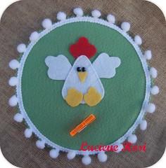 :: Porta recados Coc :: (Luciene Rosi ) Tags: brasil handmade artesanato feitomo cds feltro reciclagem dezembro bordado cdvelho