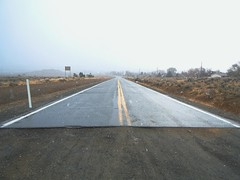(cr8visions - Robert Boisson) Tags: road landscape nevada vision beginning end isolation mundane emptiness banal yellowline alteredlandscape newtopographics