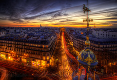 paris je t'aime encore HDR ~ Paris ~ France ~ Haussmann ('^_^ D.F.N. Damail ^_^') Tags: voyage street city travel light sunset sky urban favorite sun paris france color tower art love monument architecture photoshop canon pose word french geotagged fun photography photo reflex opera europe flickr raw gallery lafayette photographie photos mark picture award eiffel best fave route amour lumiere rua capitale monde rue iledefrance franais hdr couleur clounds clound boken francais artiste photographe 1635 longue 1635mm favoris poselongue poseb dfn damail borderfx 5dmarkii francais wwwdamailfr