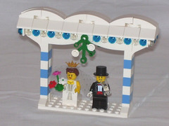 Arch with Bride and Groom (BothSidesOfTheBrick) Tags: winter lego contest moc afol wintervillage
