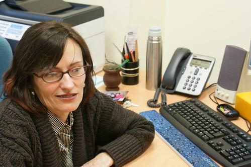 Victoria Aguilar en su despacho