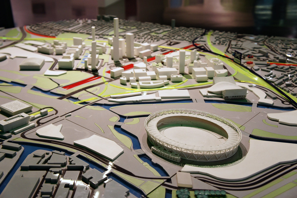 London model (closeup of Olympic venues)