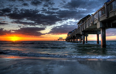 Pier 60 (Brian Koprowski) Tags: blue sunset orange gulfofmexico water beautiful pier amazing pentax florida clearwaterbeach hdr topaz pier60 pentaxk5 briankoprowski bkoprowski