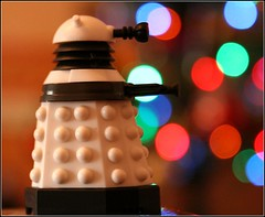 Merry Christmas 2011 (Richard Cowdrey) Tags: christmas lights lego bokeh drwho dalek whovian