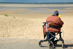 Beach Delight (Stonebridge65) Tags: beach strand wadden waddeneiland oldman texel rollator oudeman mygearandme mygearandmepremium rememberthatmomentlevel5