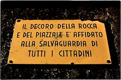... 220V1847 (*melkor*) Tags: city urban castle art public sign warning geotagged minimal conceptual imola melkor trashbit imolabit apublicwarning backtotrashbitproject imolacastle