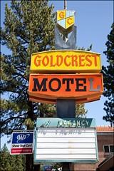 Gold Crest Motel - Lake Tahoe 2010 (Kenneth David Geiger (aka Ken Foto)) Tags: california nevada laketahoe vintagemotelsigns goldcrestmotel mg55771a
