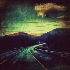Taxi Driver 2 (maryjaneart) Tags: mountains vermont dramatic iphone vanishingroad iphoneart iphoneography