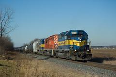 Ethanol load #616 at Davis Junction, IL (wales23us) Tags: il freighttrain ethanol emd sd402 tankcars davisjunction ethanoltrain dme6070 dme616