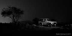 A night with NISSAN (BADER DHAIFALLAH) Tags: light tree car night digital photography nissan desert winner challenge patrol beginner           makkahpainting