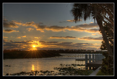 Another Sunset at Jiggs landing Bradenton-Florida (Javier Huanay) Tags: trees sunset luz nature clouds atardecer landscapes agua florida outdoor landing nubes sunrays javier bradenton jiggs landings d7000 blinkagain huanay