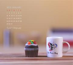 January Calendar (Faisal | Photography) Tags: life morning colors canon eos 50mm soft dof bokeh unique style cupcake usm ef 50d canon50mmf14usm canoneos50d januarycalendar faisal|photography فيصلالعلي coffeestill