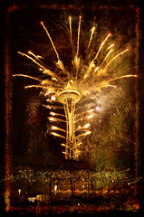 Space Needle Fireworks (KPortin) Tags: fireworks spaceneedle bocaccino