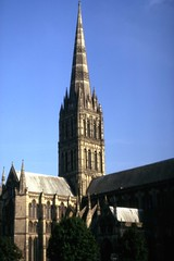 Salisbury Cathedral (Andy961) Tags: salisbury england uk wiltshire cathedral church anglican churchofengland spire tower gothic architecture kodachrome film