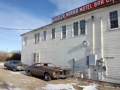 Pair of Mercury Cougars (dave_7) Tags: usa classic car hotel us montana mercury 70s cougar sweetgrass mercurycougar mercurys