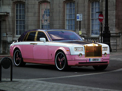 Rolls-Royce Phantom (kenjonbro) Tags: uk pink london yellow gold trafalgarsquare rollsroyce adobe layer mauve photoshopcs radiator pinkpanther replacecolour aer3 kenjonbro fujihs10 wacombamboopen eer8