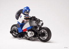 Custom Lego Captain America on Bike (_Tiler) Tags: bike print design lego cab motorcycle minifig custom marvel captainamerica marvelcomics christo minifigure redskull padprinting thefirstavenger captainamericathefirstavenger