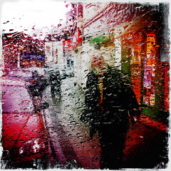 Slippery Slope 1 (davemason) Tags: rain windscreen iphone plumstead slipperyslope hipstamatic