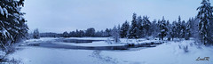 landscape of finland (LoubR photography) Tags: winter snow color ice nature water finland river landscape lapland kuusamo polar finlande hossa 5photosaday laponie