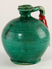 40. 19th Century Green Glazed Persian Jug