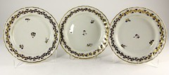 85. Three Antique Porcelain Plates