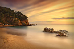 Cala Canyelles (Geoffrey Gilson) Tags: sunset beach de mar long exposure paradise dreamlike espagne cala lloret waterscape canyelles nd400 psain nd500 exploremyass