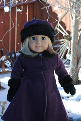 Kit in the snow (Jitsu) Tags: snow girl paper snowflakes doll coat american kit sugarplum kittredge
