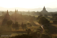 Sunset in Pagan (pinnee.) Tags: burma myanmar gettyimages pagodas bagan nyaungoo oldbagan 8faves sunsetinbagan bagantemples templesinbagan baganatdawn