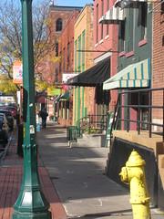 Syracuse, NY 5257 (Design for Health) Tags: people signs cars sidewalk vehicles pedestrians mixeduse photographerannforsyth