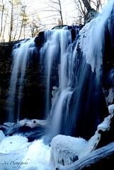 Winter Whisper (Xd Photo) Tags: blue winter ice water landscape flow frozen waterfall slow freeze flowing winterwonderland shutterspeed
