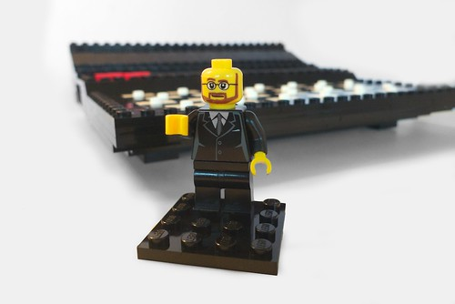 Clive Sinclair - in Lego!