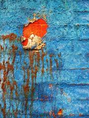 Peeling Paint (teaselbrush) Tags: city uk blue red england urban cinema art catchycolors sussex coast town seaside brighton peeling paint decay empty hove cream east faded coastal granada british former deco derelict portlandroad abanonded galabingohall