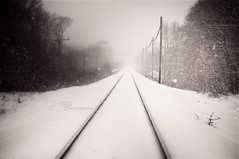 LIRR at Shirley. (jovegaphotography.com) Tags: new york snow island long snowstorm first snowfall