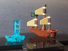 Ghost ship dead ahead (monsterbrick) Tags: reflection lego pirate pirateship darkwaters moc ghostship unmoc